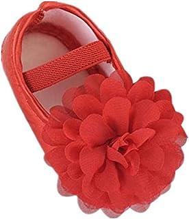 ZEZKT Sandales Bébé Fille Chaussures Premiers Pas avec Fleur Chaussures de Plage Bébé Enfant Fille Garçon Sandales Bout Fermé en Maille Mixte Enfants