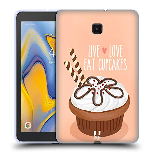 Head Case Designs Chocolate Wafer Cupcake Happiness Soft Gel Case Compatible for Galaxy Tab A 8.0 (2018)