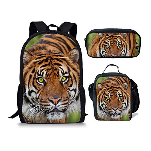 1 Fox Moyen Tiger Cartable 3pcs 3 Chaqlin Noir AvOwH