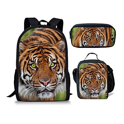 Noir 3pcs Chaqlin 1 3 Tiger Fox Cartable Moyen Zw5S5xHPq
