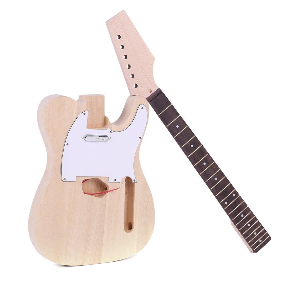 激安正規  ammoon DIY キットセット TL様式 エレキギターセット B06WLL5NWL ammoon エレキギター 指板(ローズウッド製) 本体(バスウッド製) ネック(メープル製) DIY 1 B06WLL5NWL, ソウベツチョウ:9dcf9cb6 --- suprjadki.eu