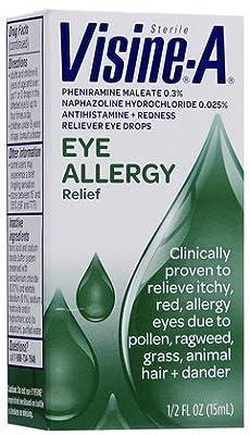 Visine -A Eye Allergy Relief, Antihistamine & Redness Reliever Eye Drops (Quantity 1) by Visine