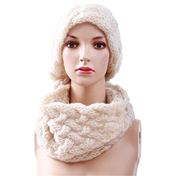 Amazon Com Winter Cable Ring Scarf Women Knitting Infinity Scarves