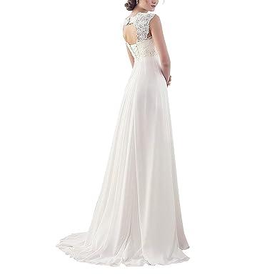 Moichien Women White Wedding Maxi Dress Crochet Flower Mosaic Lace Sequin Wedding Bridal Plus