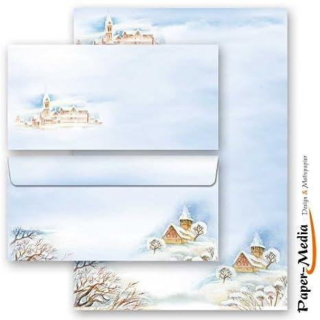 Motiv-Briefpapier-Sets WINTERZEIT 20-tlg Set DL ohne Fenster Variante A