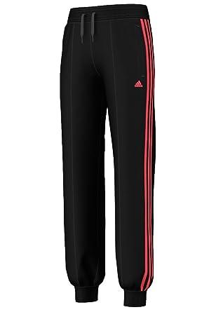 adidas - Pantalón de chándal para niña negro Black/Red Zest Talla ...