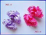 50pcs 4.5'' polka dot Hair Bow Girl Funky boutique bows Layered Hairbows