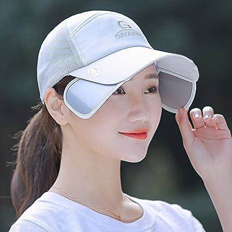 MSZYZ Moda Femenina Hat Todos-Match Verano Gorra Hat Hembra Hembra  Sunscreen Sun Hat Hat Cap Gorra Ajustable 338cc8c9774