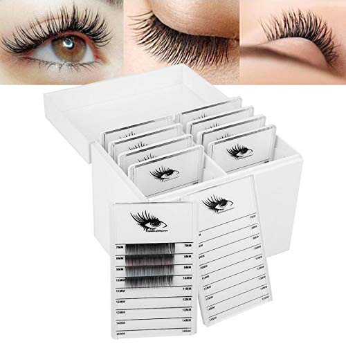 10 Layers Acrylic Eyelash Storage Box, Makeup Organizer False Eyelashes Glue Pallet Holder Display Grafting Eye lashes Extension Close-Packed Display with 10 (Best Pallet For Eyelashes)