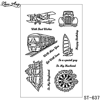 Amazoncom Davitu French Words Clear Stamps For Diy Scrapbooking