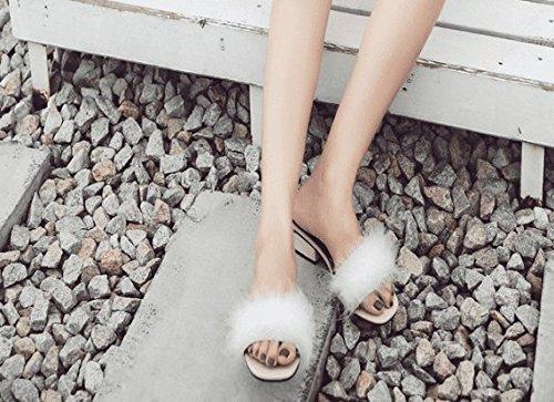 SCLOTHS Sommer Frauen Flip mit Flops High Heel Open Toe Casual Dick mit Flip Weiß 359a67