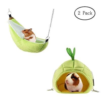 Hotumn Hammock Banana & Pineapple Nest for Guinea Pigs