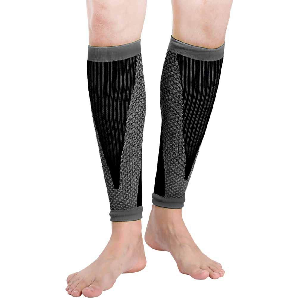 Jlong Sports Calf Compression Sleeve - Leg Shin Splints Compression Socks for Men Women Calf Sleeves for Running Cycling Athletics Air Travel Support 1 Pcs