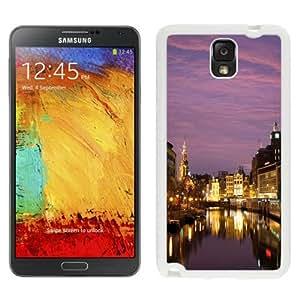 Fashionable Custom Designed Samsung Galaxy Note 3 N900A N900V N900P N900T Phone Case With Night In Amsterdam_White Phone Case
