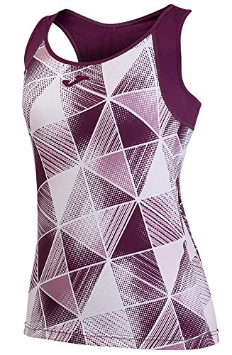 JOMA GRAFITY PATTERNED BURGUNDY SLEEVELESS SHIRT M