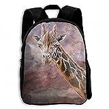 Serengeti Color Africa Giraffe Student School Backpacks Canvas Book Bag Casual Daypack Travel For Children