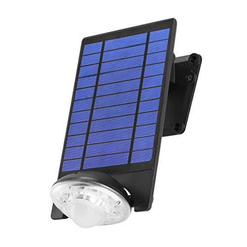 Link2Home EM-SL451B 250 Lumen LED Solar Security Adjustable Single-Head Sensor Spotlight with Photocell Technology in Black