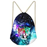 Instantarts Galaxy Leopard Printed Drawstring Bag Backpack Cool Sackpack for Sports Travel Review