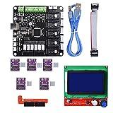 BIQU KFB3.0 3D Control Board +LCD 12864 Module Display Monitor Motherboard + DRV8825 Stepstick Stepper Motor Driver Module for Reparp Mendel Prusa I3 Kossel 3D Printer