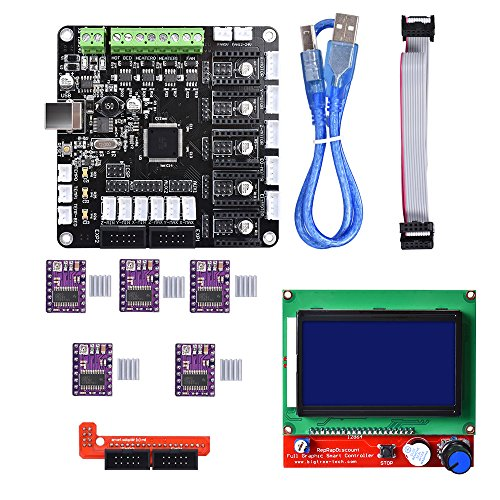 BIQU KFB3.0 3D Control Board +LCD 12864 Module Display Monitor Motherboard + DRV8825 Stepstick Stepper Motor Driver Module for Reparp Mendel Prusa I3 Kossel 3D Printer by BIQU