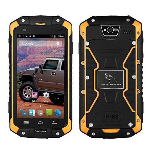 ROGUCI Wald Leopard No 1 Smartphone Wasserdicht(4,5 Zoll Touch-Display, 4 GB Speicher, Android 4.4)Anti-Schock Anti-Staub Doppel-SIM