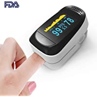4 in 1 Fingertip Pulse Oximeter Blood Oxygen Saturation Monitor with PR (Pulse Rate), Sleep Monitoring and PI(Perfusion Index)