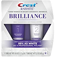 2 Count Crest 3D White Brilliance Toothpaste and Whitening Gel System, 4.0oz and 2.3oz