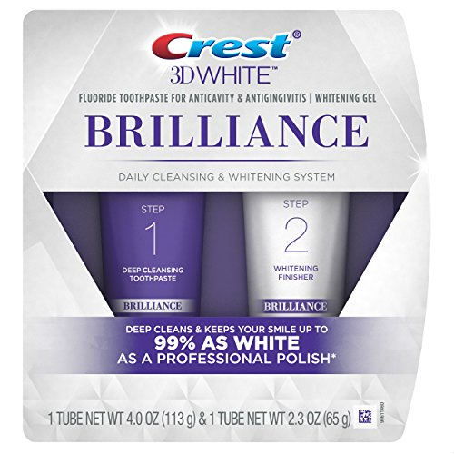 Mouthwash Peppermint Baking Soda - Crest 3D White Brilliance Toothpaste and Whitening Gel System, 4.0oz and 2.3oz