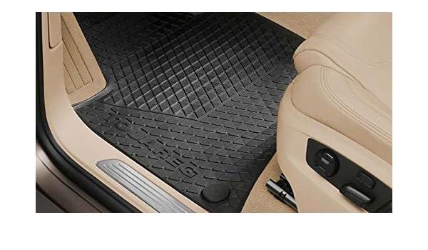 Amazon.es: Volkswagen Goma felpudos Original Touareg 7P Juego de 4 Parte Delantera + Trasera Felpudo