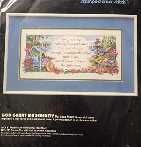 Dimensions Serenity Prayer Stamped Cross Stitch Kit
