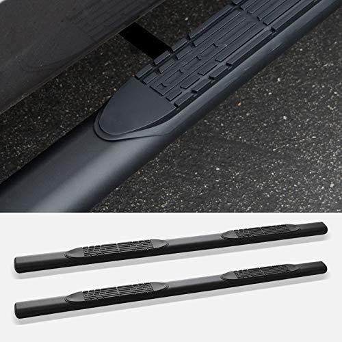 """Stehlen 733469496359 4"""" Oval Side Step Nerf Bars - Matte Black For 1998-2001 Dodge Ram 1500/1998-2002 2500/3500 Quad (Crew / 4 Door Extended) Cab"""