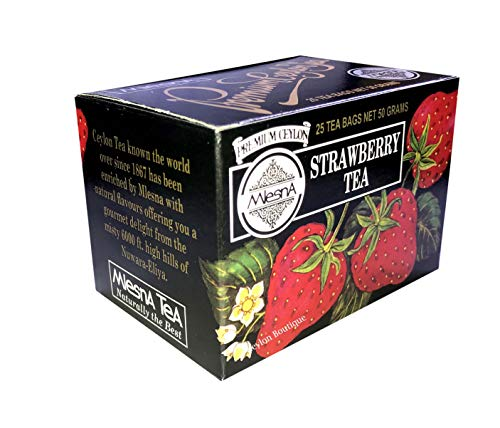 - Mlesna Strawberry Ceylon Tea in 25 Tea Bags
