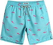 MaaMgic Men's Short Swim Trunks,Slim Fit Quick Dry Board Shorts with Mesh Li