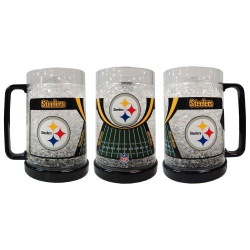 Pittsburgh Steelers Crystal Freezer Mug (Pittsburgh Steelers 16 Oz Crystal)