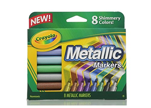 Crayola Metallic Markers Shimmery Colors Pkg