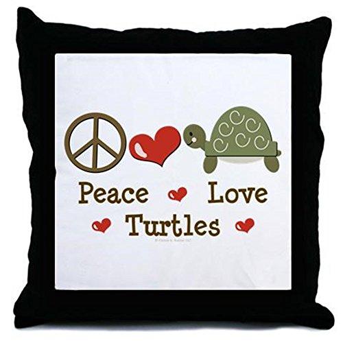 CafePress - Peace Love Turtles Throw Pillow - Throw Pillow, Decorative Accent Pillow (Snapper Sofa)