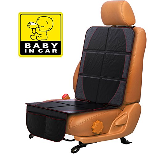 - Car Seat Protector for Baby & Toddler by FORTEM | 100% Waterproof Very Thick & Durable Quality Backseat Cover | Protection Against Damage to Leather & Cloth Seats | Bonus Baby On Board Sticker