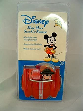Amazon.com: Disney Mickey Mouse Coche deportivo Nightlight: Baby