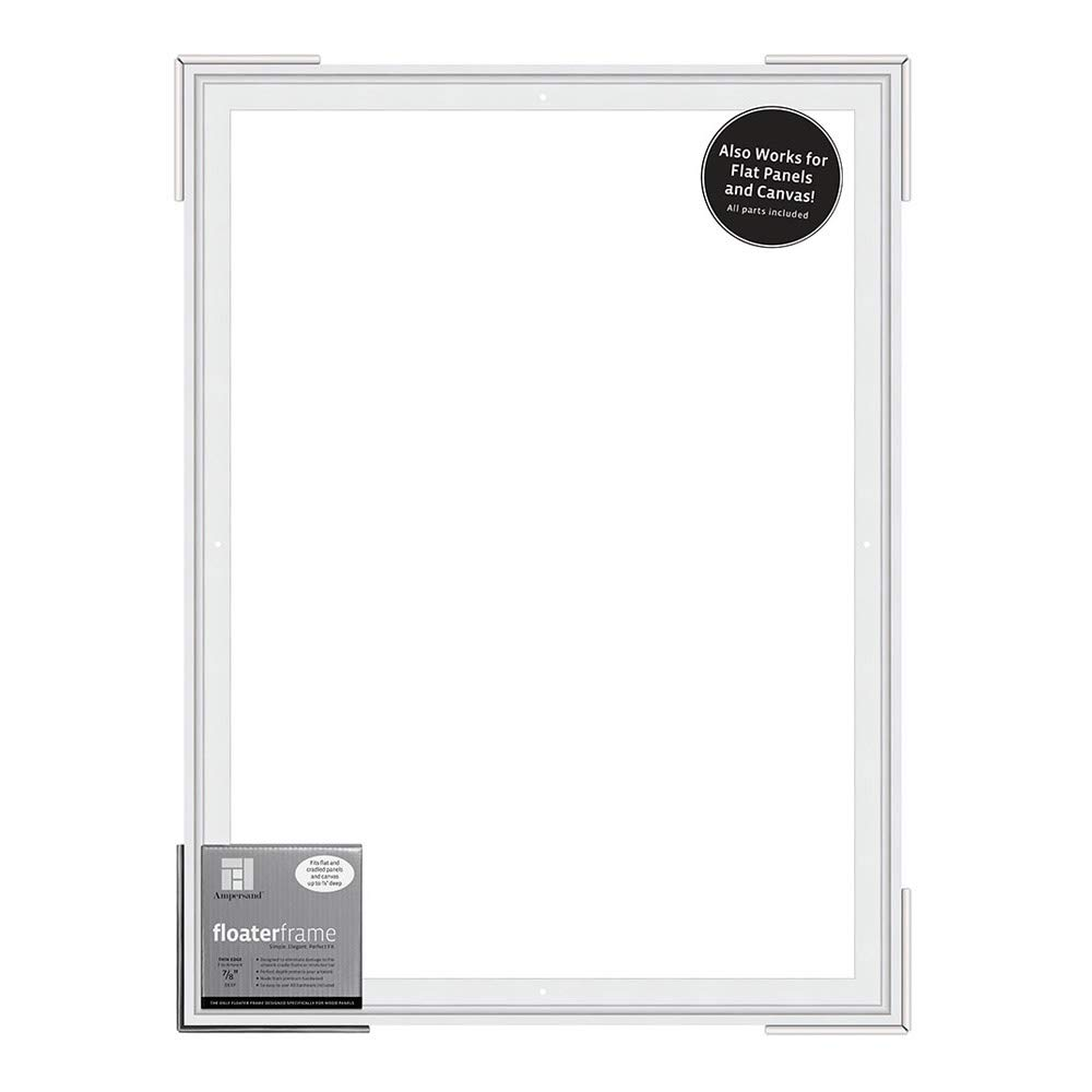 FTHIN781824W 18x24 Inch Thin Ampersand Floaterframe for Wood Panels 7//8 Inch Depth White
