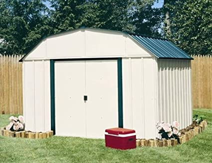 Arrow Vinyl Sheridan Steel Storage Shed Meadow Green/Almond 10 x 8 ft & Amazon.com : Arrow Vinyl Sheridan Steel Storage Shed Meadow Green ...