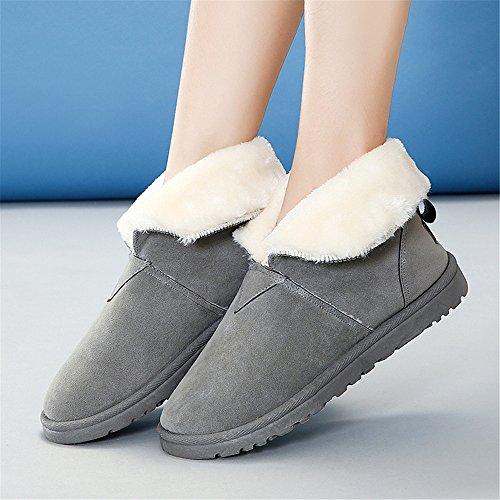 Boots cotone di calda colori ispessita invernali gray a Snow Scarpe lana xwZ1ECw0