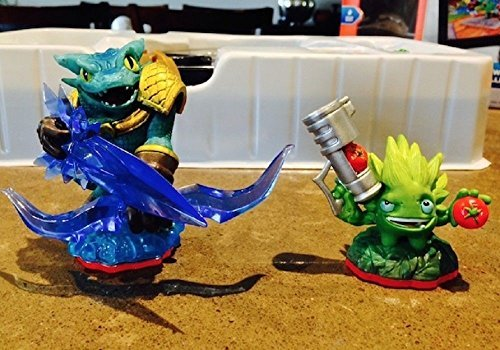 Lot of 2 Skylanders Trap Team Food Fight & Snap Shot Loose Figures ONLY (Skylander Action Figures)