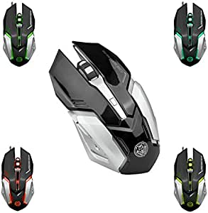 Professional Gaming Mouse Ergonomic Adjustable DPI LED Optical 6 Buttons Exra Weight Black (T80)