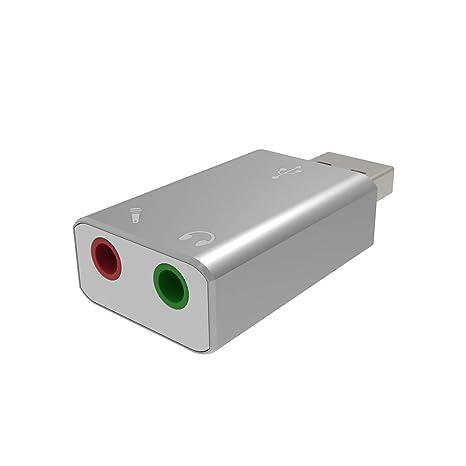 alleasy adaptador de Audio USB, tarjeta de sonido de audio ...