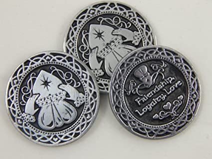 Amazon Six 6 Pewter Claddagh Pocket Tokens Love Friendship
