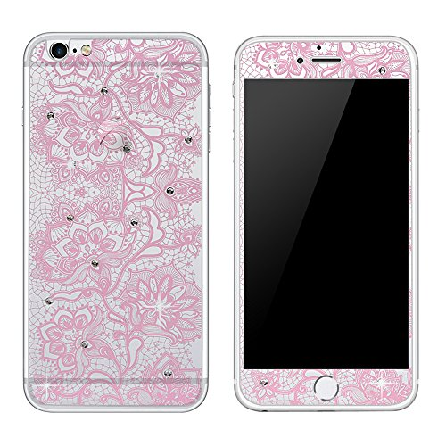 iPhone 6 Srceen Protector,iPhone 6S Srceen Protector,Mavis's Diary Front and Back Full Coverage Protection Tempered Glass Film 3D Handmade Bling Cryst…