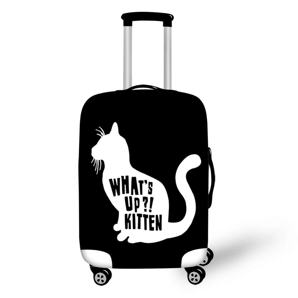 198b6311ad99 Amazon.com: Dunnomart Lovely Cat Luggage Cover Travel Waterproof ...