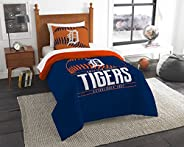 MLB Detroit Tigers Twin Comforter and Sham, One Size, Multicolor