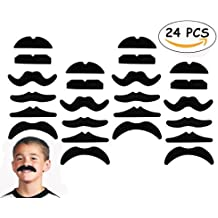 24 PCS Fake Mustaches,Mustache Party,Mustache for Masquerade Party and Performance