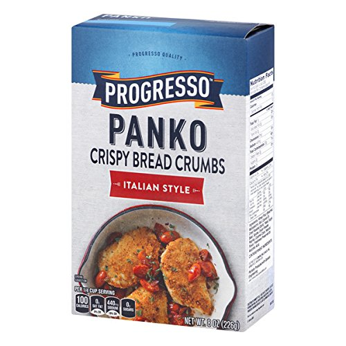 Progresso Panko Italian Style Bread Crumbs 8 oz Box Crispy Bread Crumbs